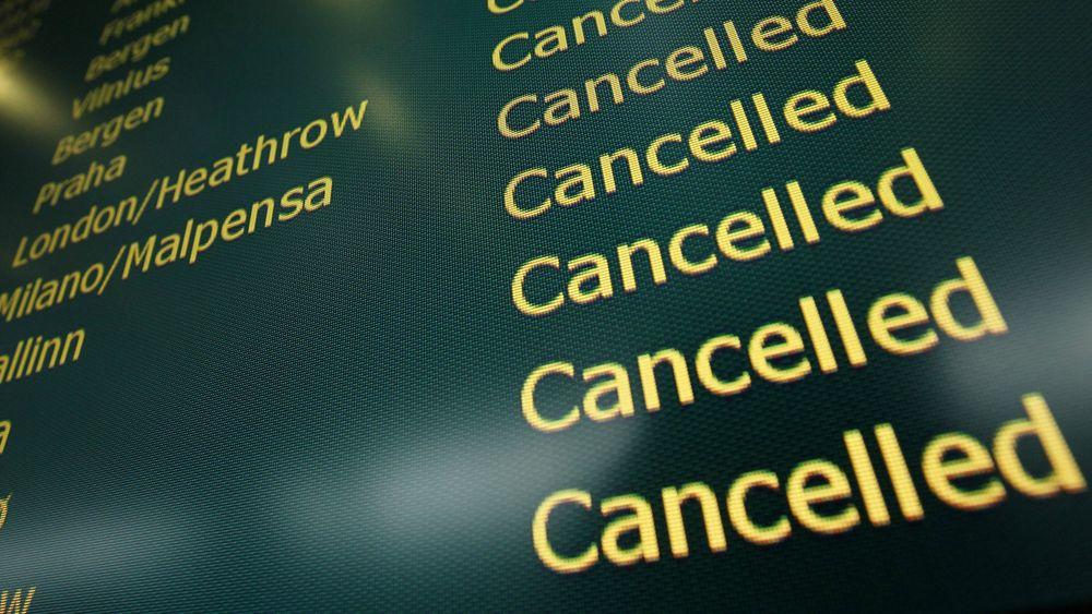 Det var full stans i flytrafikken ved Gardermoen fredag morgen. Illustrasjonsfoto: