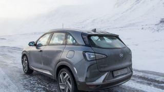 Hyundai Nexo er en romslig hydrogenbil.