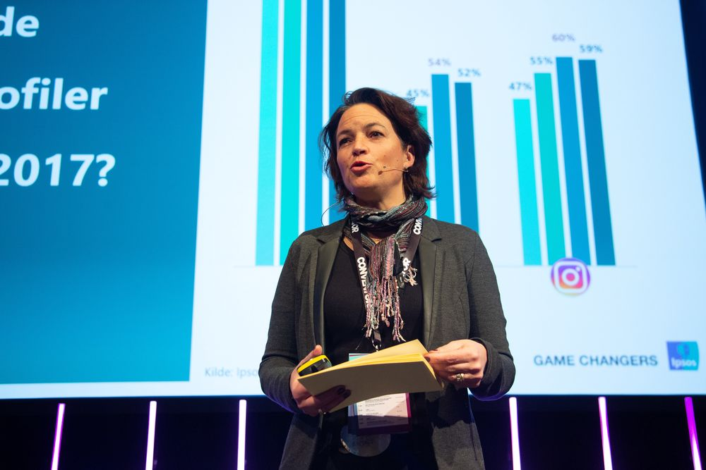 Nathalie Eyde Warembourg, Country Manager, IPSOS. Her på Social Media Days 2019.
