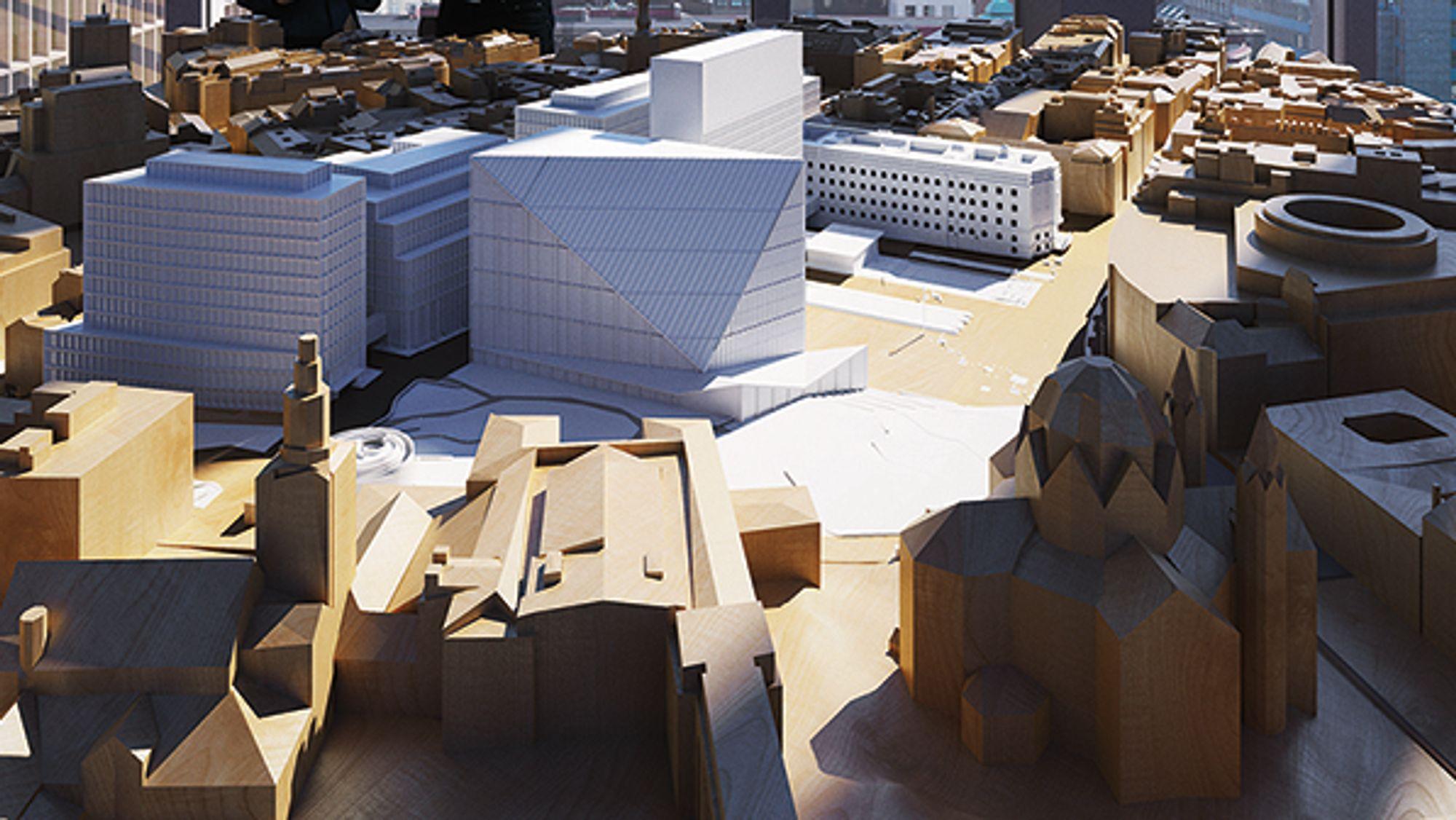 Statsbyggs nye utstilling i 22. juli-senteret i Høyblokkens er nå åpen for publikum i vestre paviljong.