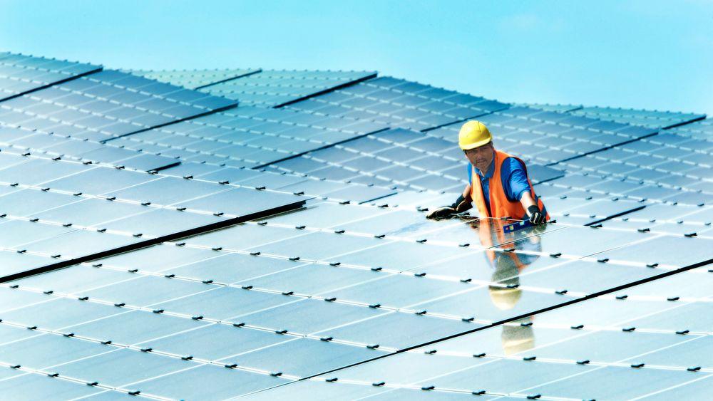 Tyskland bygger solenergi uten subsidier. Her fra Herforst, i Tyskland.