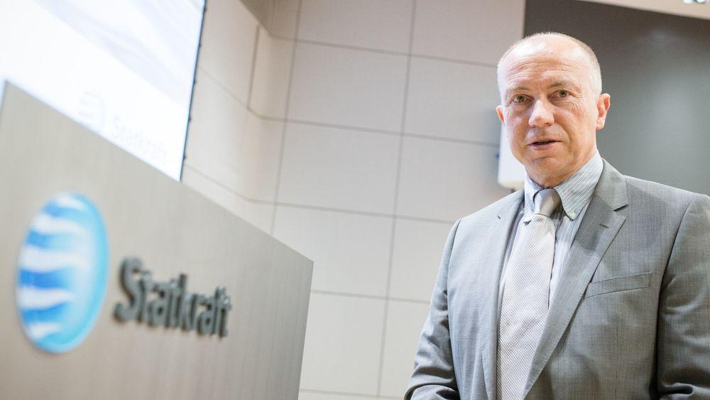 Konsernsjef Christian Rynning-Tønnesen i Statkraft melder om et sterkt resultat i fjerde kvartal, hovedsakelig drevet av høyere nordiske kraftpriser.