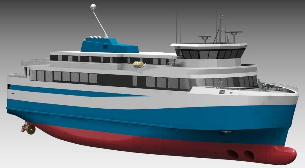 Polarkonsult i Harstad har designet Islands første batterielektriske ferge med plass til 75 biler og 550 passasjerer.