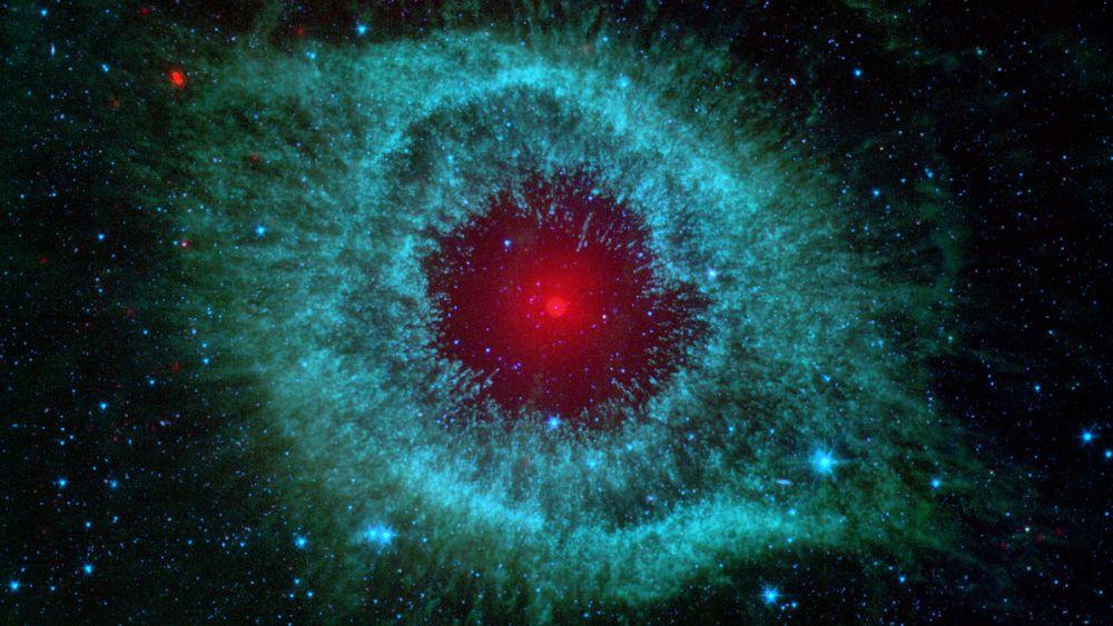 Illustrasjonsfoto som viser gasskyen Helix Nebula i vår galakse Melkeveien, cirka 700 lysår fra vår planet.