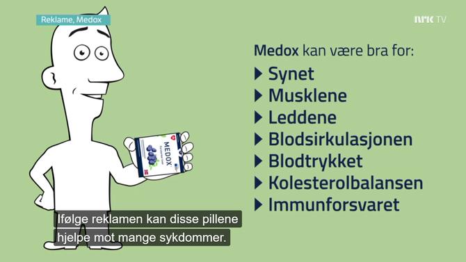 Faksimile fra NRK-programmet FBI om Medox.