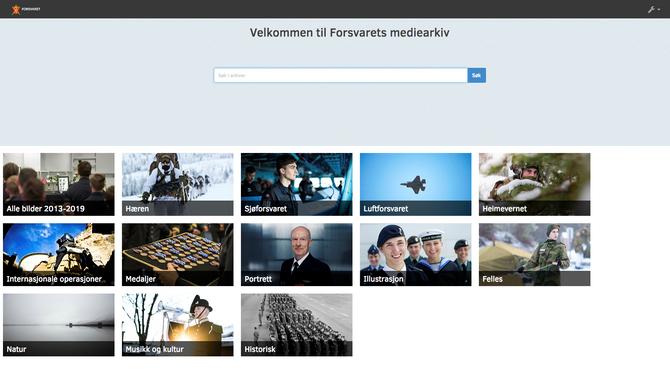 Forsvarets mediearkiv.