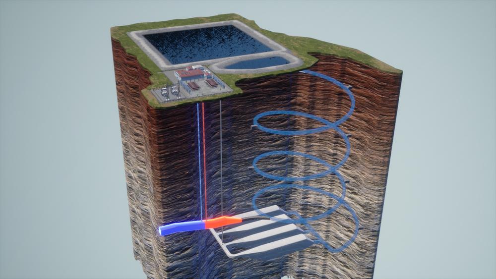 Hydrostors system presser trykkluft ned i spesialbygde underjordiske kamre som tildels er fylte med vann.