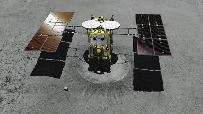 Japansk sonde landet på asteroide: Skalfinne ut mer om solsystemets opprinnelse