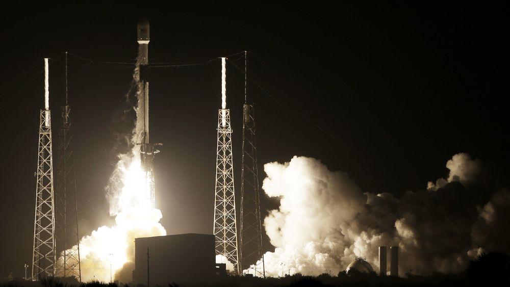 SpaceX-oppskytningen natt til fredag.