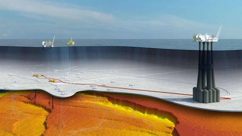 – I alle scenarioer har olje og gass en plass i framtiden, er Equinors holdning. Illustrasjonen er fra Troll-feltet.