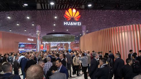 Fra Huaweis stand på Mobile World Congress 2019 i Barcelona.