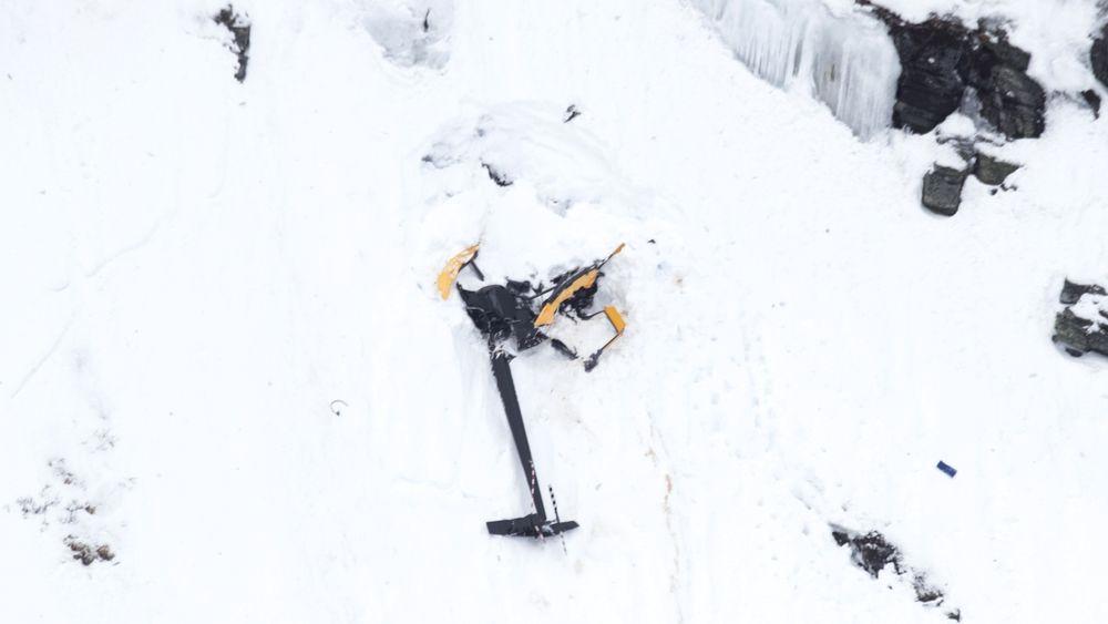 Vraket av LN-ORH tyder på at det ble fløyet med relativ stor hastighet inn i fjellsida.