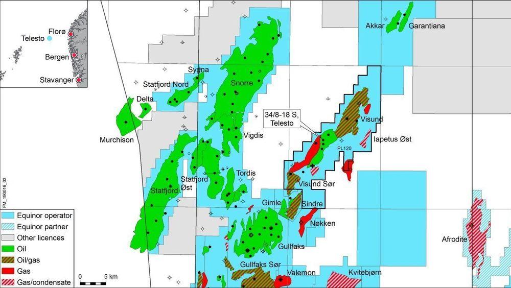 Telesto-brønnen ligger like ved Visund A-plattformen, og selv om oljefunnet er relativt lite, vil det være lønnsomt, følge Equinor.