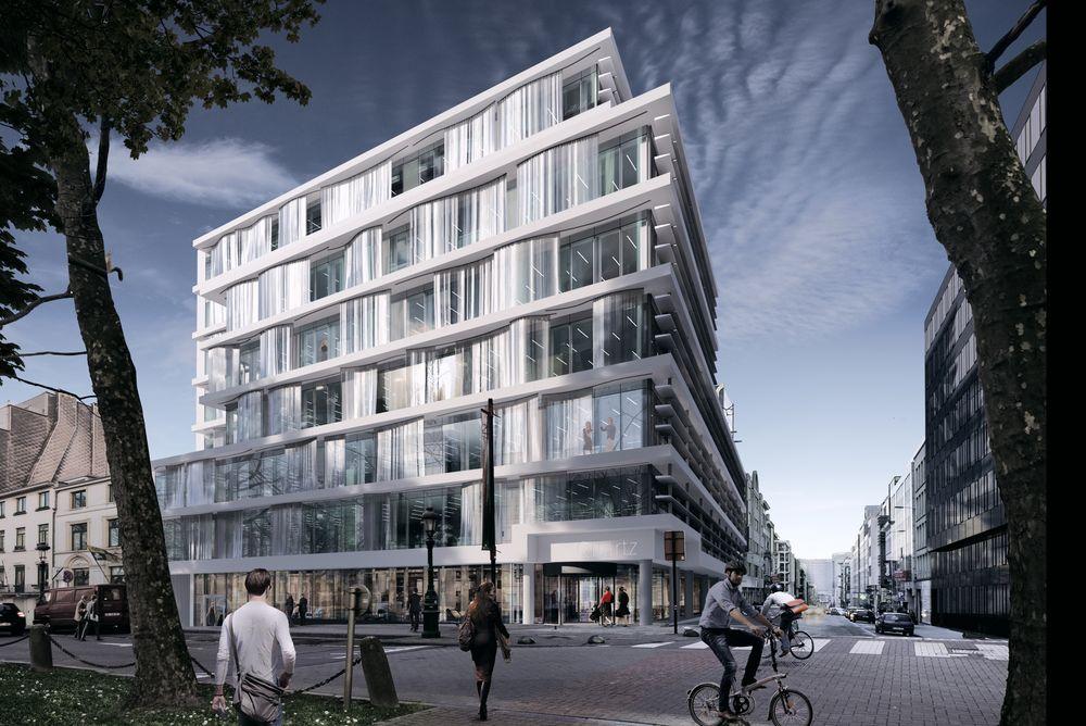Det nye kontorbygget til EFTA som bygges i Brussel.