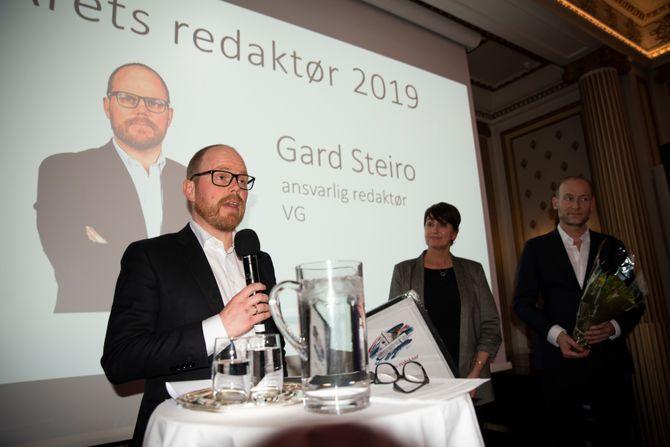 Sjefredaktør Gard Steiro i VG er kåret til årets redaktør i Oslo og Akershus.