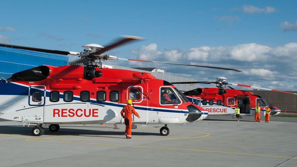 Disse to S-92A-helikoptrene er stasjonert på Sola og Statfjord B.
