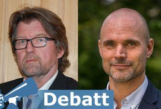 Morten Braarud, leder i Øvre Eiker fibernett og Audun Wiig, næringspolitisk rådgiver KS Bedrift Energi.