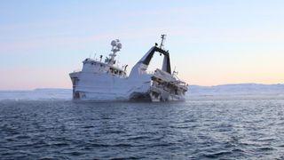 Bruker isbjørn-GPS for å spore havarert tråler nord for Svalbard