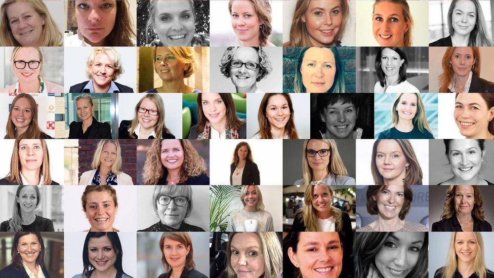 Norges 50 fremste kvinner i teknologi innenfor et bredt spekter av bransjer.