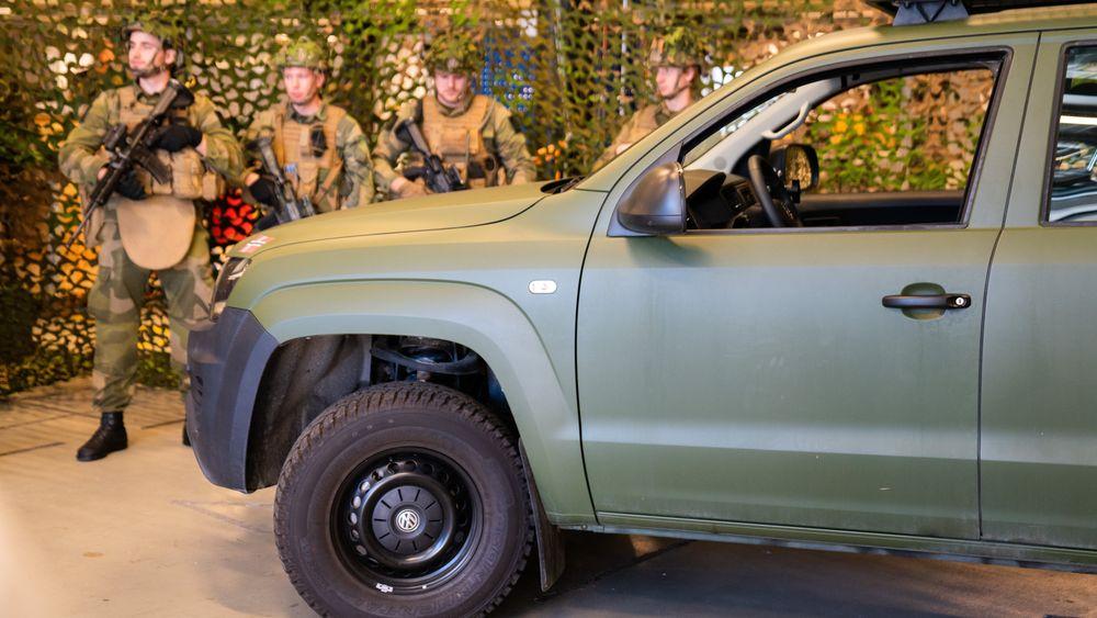 Dette er Heimevernets innsatsstyrkers nye feltvogn av typen VW Amarok. Det skal leveres minst 380 slike.