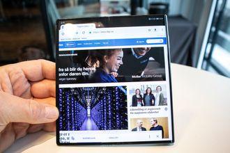 Huawei Mate X når skjermen er helt brettet ut