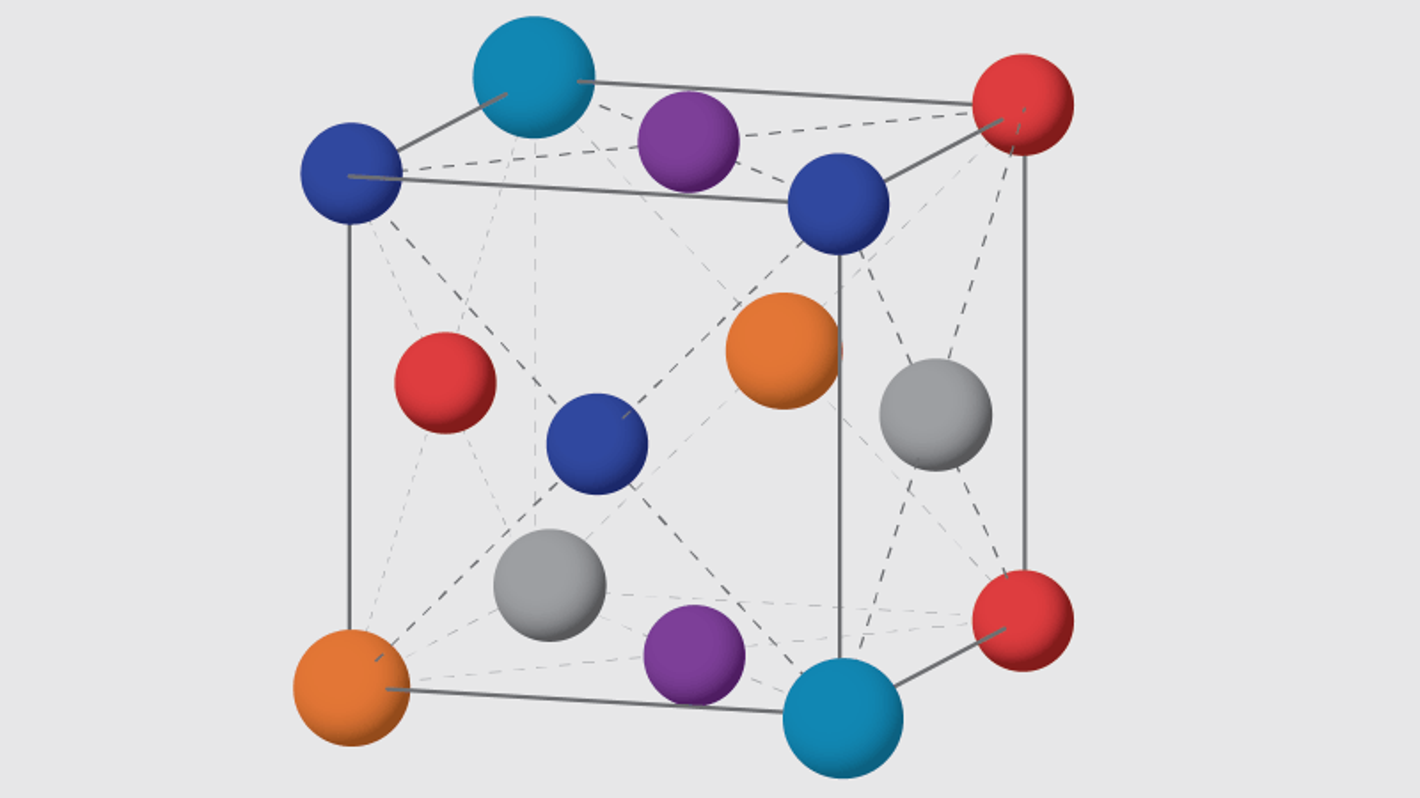 I en høy-entropi-legering er atomene tilfeldig plassert, men danner en krystallinsk struktur.