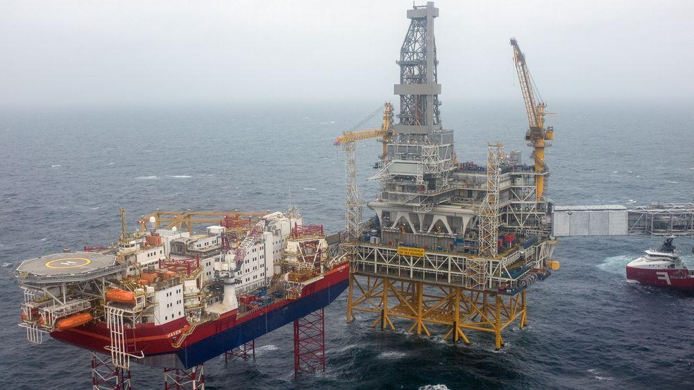 IEA tror norsk oljeproduksjon vil øke i årene framover. Bildet viser Johan Sverdrup-feltet i Nordsjøen sett fra luften.