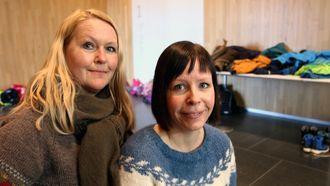 Wenche Høyforsslett fra Fagforbundet og Karina Vertot fra Utdanningsforbundet.