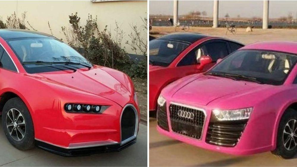 Nugatti og Auda? Nesten identiske, og elektriske kopier av ikoniske sportsbiler, made in China.