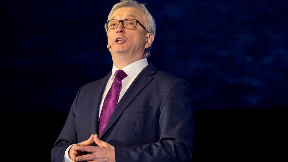 Karl Eirik Schjøtt-Pedersen åpner  Norsk olje og gass sin årskonferanse 2019.
