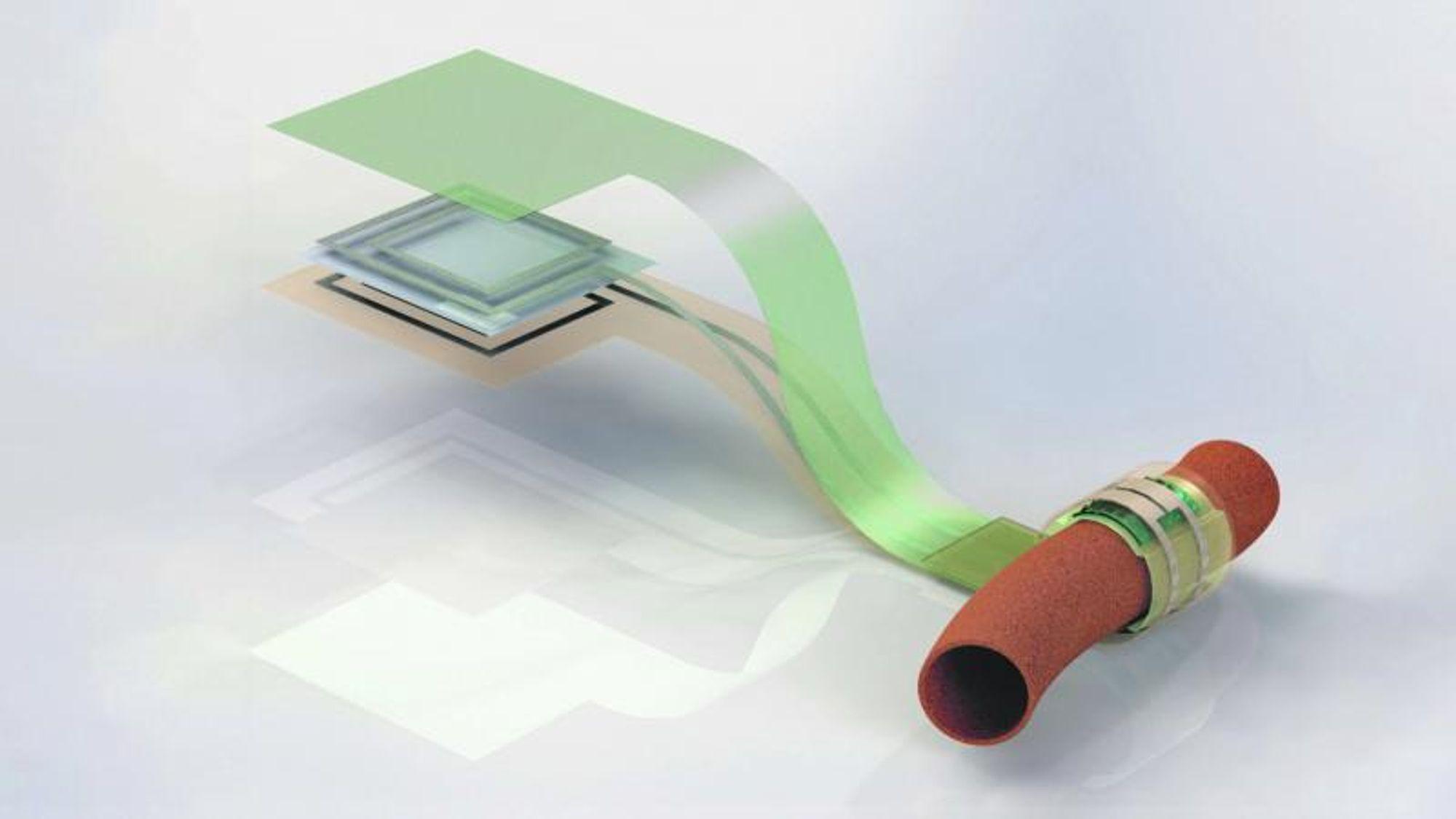 Biologiske sensorer kan blant annet brukes til å overvåke blodomløpet ved å registrere endringer i blodkarenes diameter.