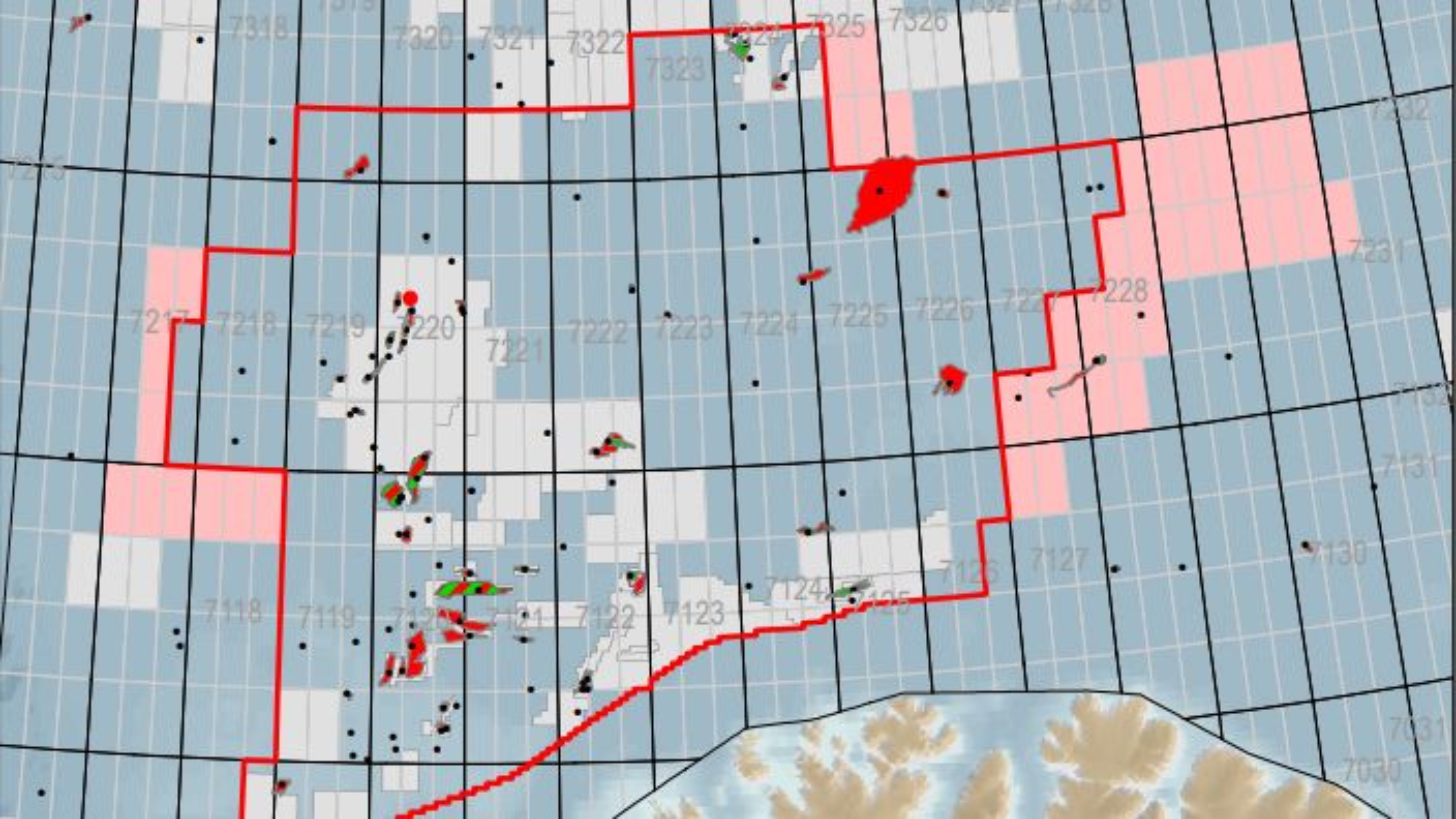OED foreslår å legge til 90 nye blokker i årets TFO-tildeling, 48 av dem i Barentshavet.