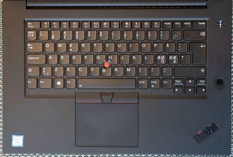 Nærbilde av tastaturet til Thinkpad X1 Extreme.