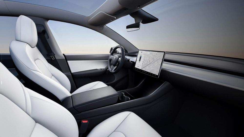 Interiøret i den nye Tesla Model Y.