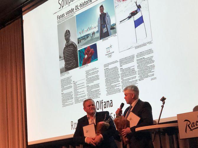 Fra prisutdelingen Gullparaplyen i Bergen 15. mars 2019.