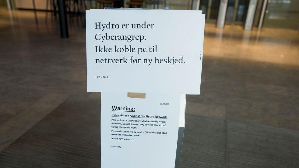 Hydro ba tirsdag alle ansatte om ikke koble PC til nettverket på grunn av dataangrepet.