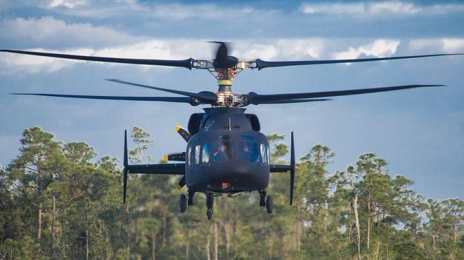 Her flyr det nye Sikorsky/Boeing-helikopteret for første gang