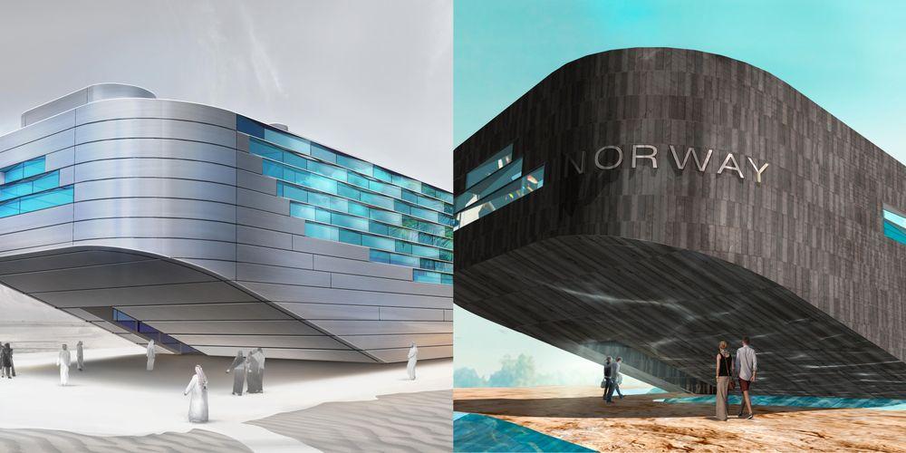 Arkitektene har presentert to ulike varianter når det gjelder utvendig kledning av Norges paviljong til EXPO 2020 i Dubai. Disse vil bli vurdert av prosjektstyret og beslutning om hvilken utvendig kledning som velges vil bli tatt i før påske