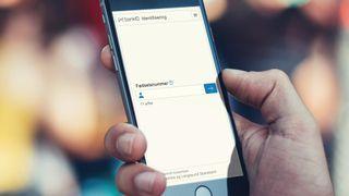 BankID-innlogging på en smartmobil.