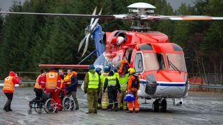 Forsvaret: Redningsaksjon helt på kanten av hva helikoptrene kunne klare