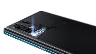 Periskop: Slik sitter den såkalte periskoplinsen montert i telefonen.