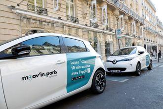 Renault tilbyr Zoe via mobilitetstjenester, for eksempel i Paris.