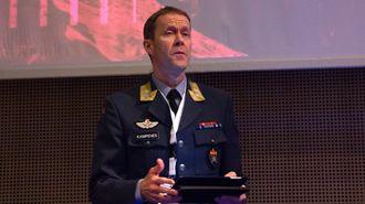 Generalmajor Inge Kampenes, sjef for Cyberforsvaret, under sitt foredrag ved NSM Sikkerhetskonferansen 2019.