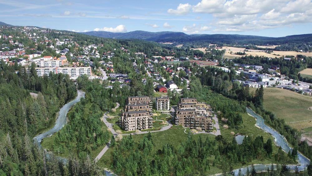 Kvernstua står på en tomt på 20 mål med 50 mål friområde rundt. Nå har AF-gruppen fått i oppdrag å bygge leilighetene i prosjektet. Kontrakten verdsettes til 447 millioner kroner.