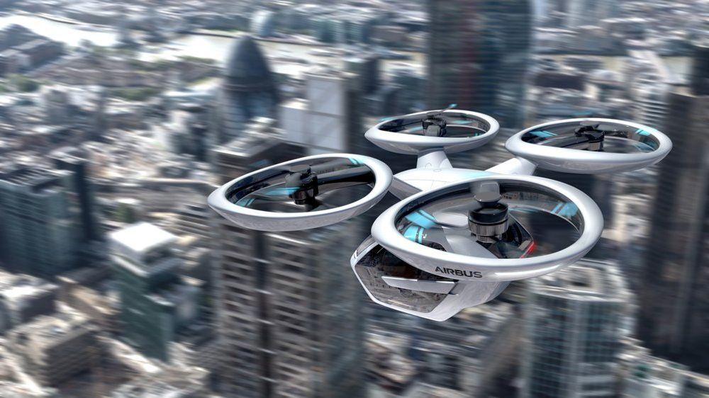 Popup Next-konseptet er et samarbeidsprosjekt der Audi og Airbus jobber fram et konsept for flyvende transport. Artikkelforfatteren tror også flyvende transport kan være et alternativ i flere byer.