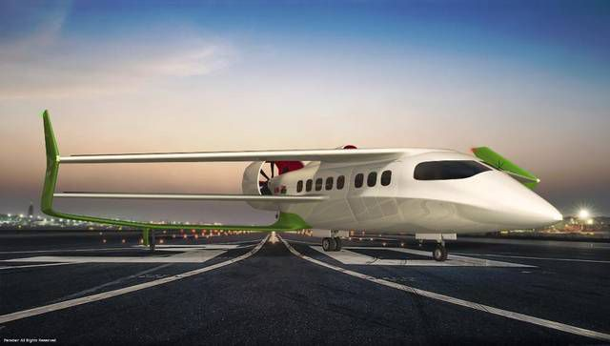 Hybridflyets trippelvinge-konstruksjon, «triple box-wing», gir en løftekraft som gjør det mulig å ta av og lande på mindre enn 300 meter, ifølge Faradair.