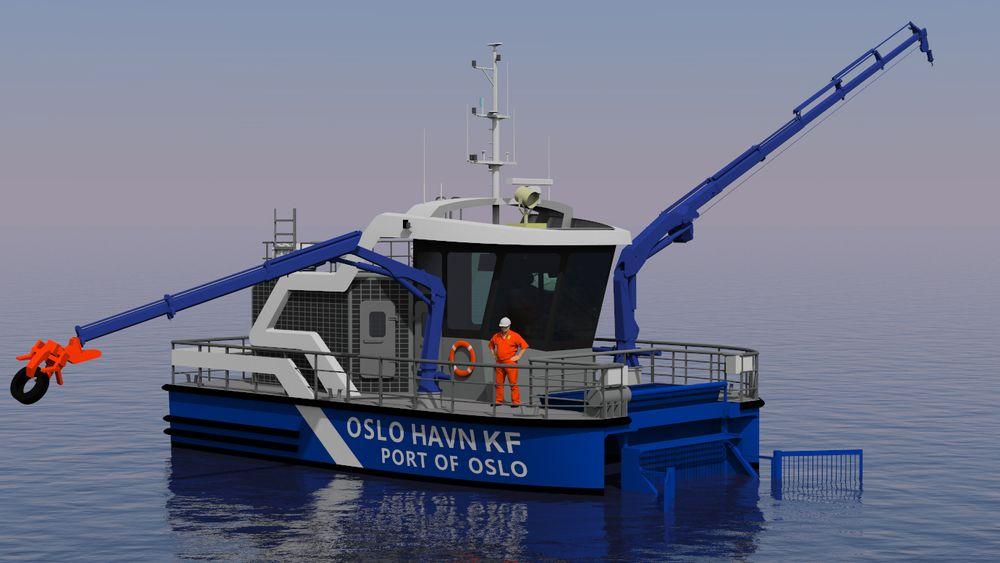 Oslo Havns nye helelektriske søppeloppsamlingsbåt skal etter planen være i drift i desember.