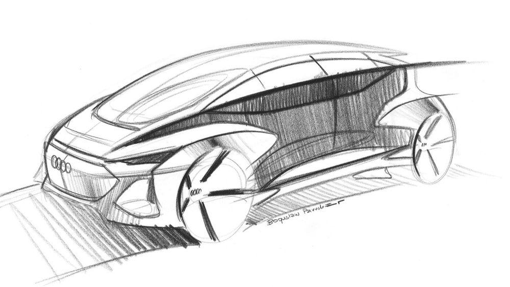 Foreløpig er det bare skisser som er sluppet av konseptbilen som skal vises fram på bilmessen i Shanghai i april.