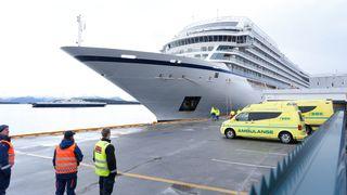 Cruiseskipet Viking Sky forlater Kristiansund onsdag