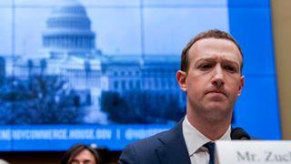 Facebooks toppsjef Mark Zuckerberg under en høring i den amerikanske Kongressen, våren 2018.